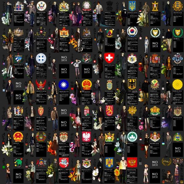 Tags: Anime, Pixiv Id 369802, Axis Powers: Hetalia, Switzerland, Egypt, Lithuania, Romania, Denmark, Iceland, Hungary, South Korea, United States, Vietnam