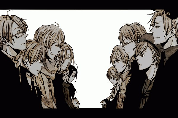 Tags: Anime, Farah, Axis Powers: Hetalia, France, Iceland, United Kingdom, Kumajirou, Norway, United States, Finland, Mr. Puffin, Russia, Sweden