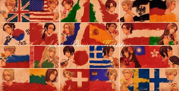 Tags: Anime, Harujuri, Axis Powers: Hetalia, Liechtenstein, Lithuania, Poland, Hong Kong, Spain, Japan, Russia, France, Austria, South Korea