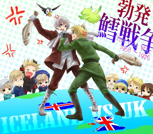 Tags: Anime, Yomoyama, Axis Powers: Hetalia, Norway, Flying Mint Bunny, Canada, Kumajirou, Sealand, Finland, Mr. Puffin, United Kingdom, Sweden, United States