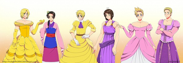 Tags: Anime, Hubedihubbe, Axis Powers: Hetalia, Greece, China, France, Denmark, United Kingdom, Germany, Jane Porter (Cosplay), Ariel (Cosplay), Megara (Cosplay), United