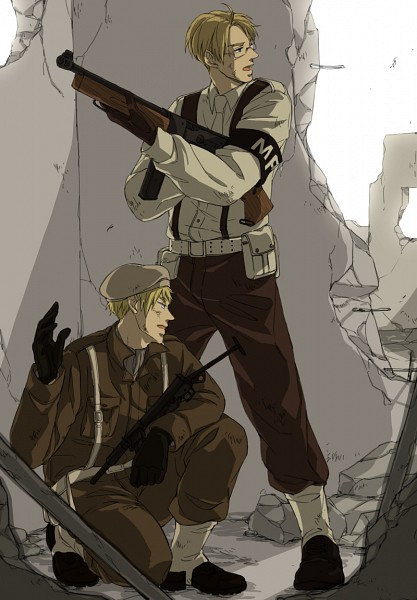 Tags: Anime, Uta325, Axis Powers: Hetalia, United Kingdom, United States, Soldier, Dirt, War, Fanart, Fanart From Pixiv, Pixiv, Mobile Wallpaper, Allied Forces