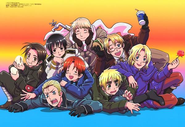 Tags: Anime, Kannan Masaaki, Studio DEEN, Axis Powers: Hetalia, Russia, United Kingdom, China, United States, France, Germany, Japan, North Italy, Pipe (Plumbing)