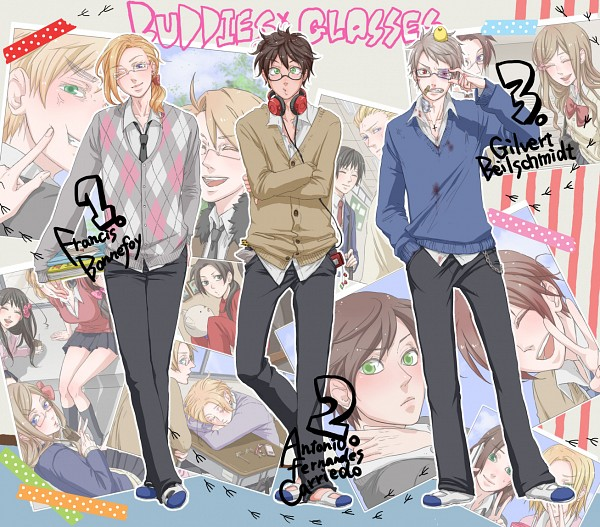Tags: Anime, Umashima, Axis Powers: Hetalia, United Kingdom, Prussia, Taiwan, United States, Monaco, China, Canada, Seychelles, Germany, Belgium