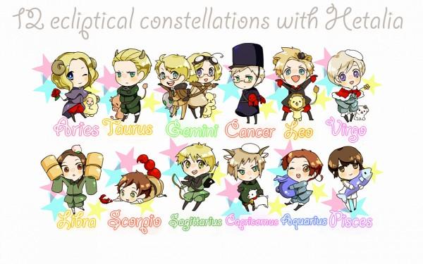 Tags: Anime, Gori, Axis Powers: Hetalia, United States, Switzerland, Canada, Hanatamago, Germany, Kumajirou, Japan, Spain, North Italy, Finland