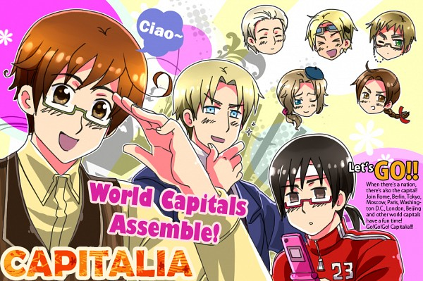 Tags: Anime, Rosel D, Axis Powers: Hetalia, Moscow, United Kingdom, Beijing, Prussia, Paris, Fan Character, Rome, Tokyo, deviantART, PNG Conversion