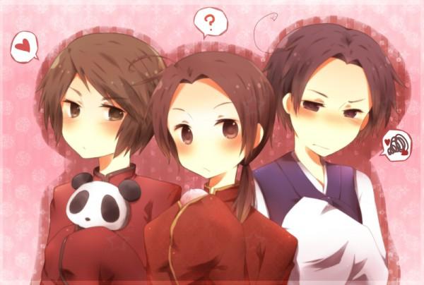 Tags: Anime, Kiryamu, Axis Powers: Hetalia, China, Hong Kong, South Korea, Hanbok, Asian Countries