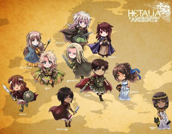 Tags: Anime, R-ninja (Artist), Axis Powers: Hetalia, Scandia, Germania, Fan Character, Rome, Ancient Britannia, Carthage, Aestii Baltia, Gaul (Axis Powers: Hetalia), Ancient Greece, Ancient Egypt