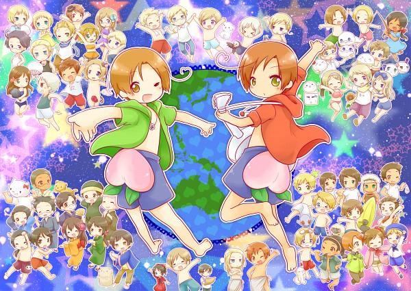 Tags: Anime, Pixiv Id 2584338, Axis Powers: Hetalia, Noto-sama, Sweden, Principality Of Seborga, Japan, Netherlands, Mochicanada, Estonia, Germania, Sealand, Turkey