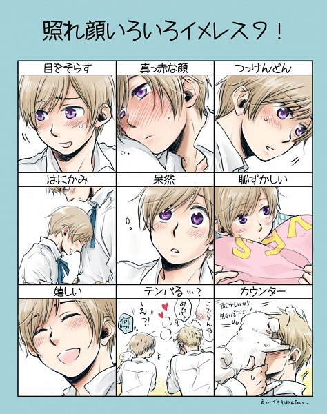 Tags: Anime, Pixiv Id 907278, Axis Powers: Hetalia, Hanatamago, Finland, Sweden, Yes-no Pillow, Blushing Faces Meme, Translation Request