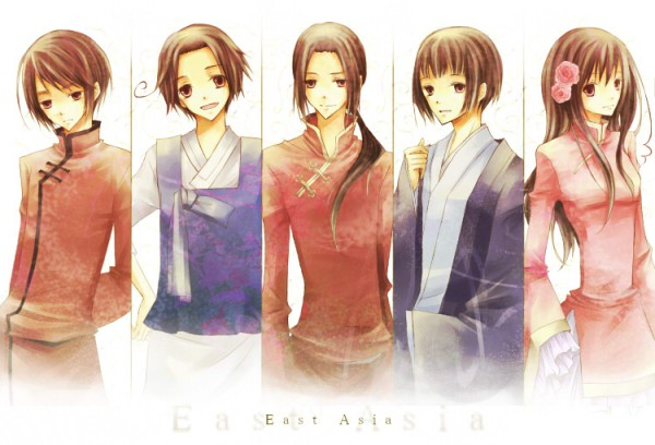 Tags: Anime, Axis Powers: Hetalia, China, Hong Kong, Japan, South Korea, Taiwan, Tangzhuang, Artist Request, Asian Countries