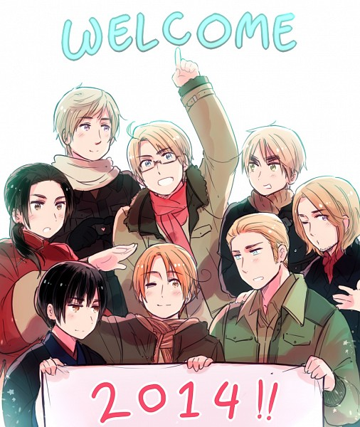 Tags: Anime, Rosel D, Axis Powers: Hetalia, Russia, United Kingdom, China, United States, France, Germany, Japan, North Italy, Pixiv, Fanart From Pixiv
