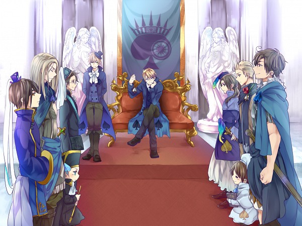 Tags: Anime, Pixiv Id 8984470, Axis Powers: Hetalia, Thailand, Hong Kong, Holy Roman Empire, United Kingdom, Netherlands, United States, Rome, North Italy, Germania, Chibitalia
