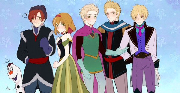 Tags: Anime, Pixiv Id 2906004, Axis Powers: Hetalia, Netherlands, Belgium, South Italy, Spain, Luxembourg, United Kingdom, Olaf the Snowman (Cosplay), Princess Anna of Arendelle (Cosplay), Kristoff Bjorgman (Cosplay), Elsa the Snow Queen (Cosplay)
