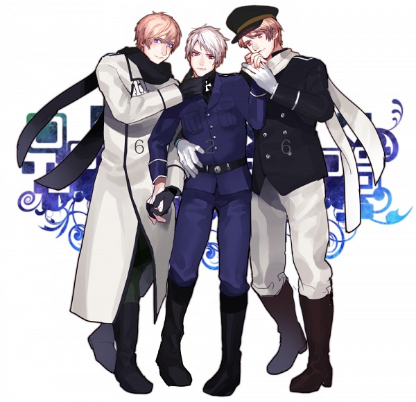 Tags: Anime, Pixiv Id 3676122, Axis Powers: Hetalia, Russia, Prussia, Player 2, PNG Conversion, RusPrus