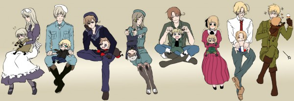 Tags: Anime, Natu Yasai, Axis Powers: Hetalia, Prussia, Finland, Liechtenstein, United States, Hungary, Sweden, Germany, France, Denmark, North Italy