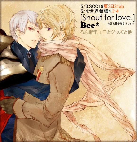 Tags: Anime, Beepaint, Axis Powers: Hetalia, Russia, Prussia, RusPrus