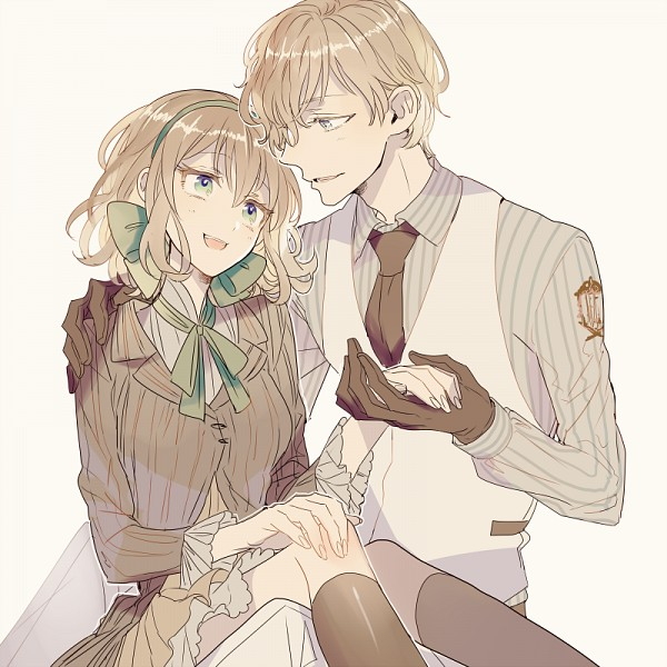 Tags: Anime, In (Motimoti), Axis Powers: Hetalia, Luxembourg, Belgium, Twitter, PNG Conversion, Fanart