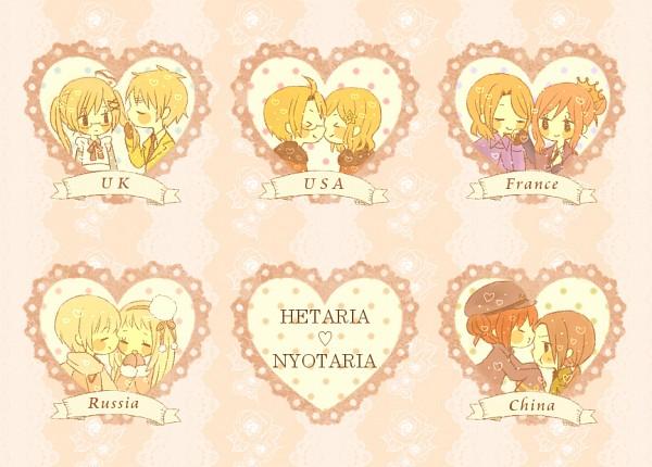 Tags: Anime, Hiyori (Pixiv2404556), Axis Powers: Hetalia, United Kingdom, United States (Female), United States, China (Female), Russia, France (Female), United Kingdom (Female), China, Russia (Female), France