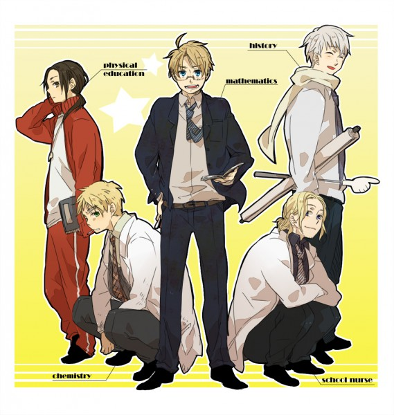 Tags: Anime, Mebouki, Axis Powers: Hetalia, France, United Kingdom, United States, Russia, China, Soviet Union, Allied Forces, Asian Countries