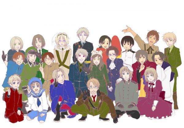 Tags: Anime, Pixiv Id 537037, Axis Powers: Hetalia, France, Germany, South Italy, Prussia, Austria, Switzerland, North Italy, Poland, China, Sealand