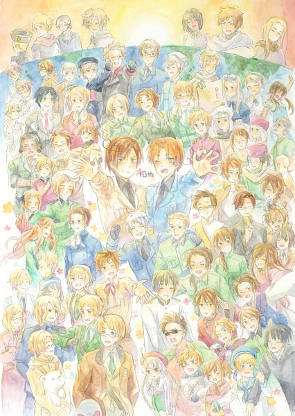 Tags: Anime, Pixiv Id 2240421, Axis Powers: Hetalia, Turkey, Greece, France, South Korea, Latvia, Cyprus, Denmark, Belgium, Seychelles, Germania