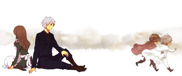 Tags: Anime, Tomo, Axis Powers: Hetalia, Hungary, Prussia, Fanart, Pixiv, Facebook Cover, Germanic Countries