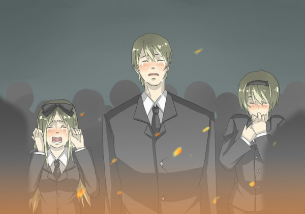 Tags: Anime, Yueni, Axis Powers: Hetalia, Russia, Belarus, Ukraine