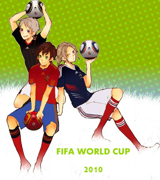 Tags: Anime, Axis Powers: Hetalia, Spain, Prussia, France, Artist Request, Mediterranean Countries, Allied Forces