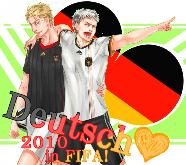 Tags: Anime, Haruhikohiko, Axis Powers: Hetalia, Germany, Prussia, Flag Background, Pixiv
