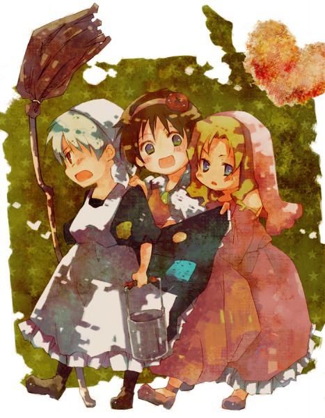 Tags: Anime, Pixiv Id 1857336, Axis Powers: Hetalia, France (Female), Prussia (Female), Spain (Female), Spain, Nyotalia, Pixiv