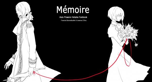 Tags: Anime, Asaishi Hime, Axis Powers: Hetalia, Jeanne d'Arc (Axis Powers: Hetalia), France, Pixiv, Facebook Cover