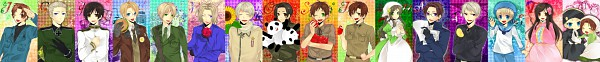 Tags: Anime, Kazuki / カズキ, Axis Powers: Hetalia, Japan, United Kingdom, Prussia, South Italy, Taiwan, United States, China, Spain, Germany, Hungary