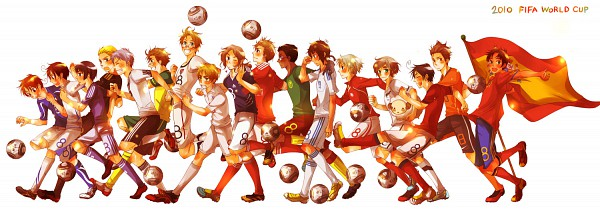 Tags: Anime, Shiomachi Kona, Axis Powers: Hetalia, Spain, New Zealand, Prussia, Netherlands, United Kingdom, South Korea, France, South Italy, United States, Australia