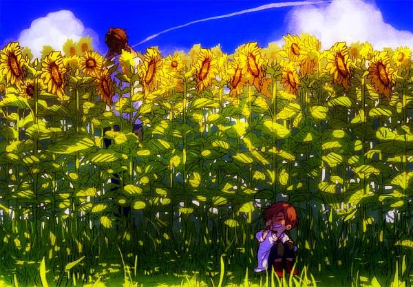 Tags: Anime, 10 Wa (hyk), Axis Powers: Hetalia, Spain, Chibimano, South Italy, Hiding, Mediterranean Countries