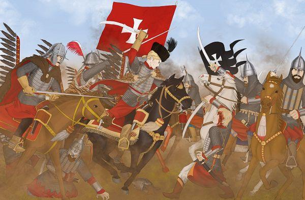 Tags: Anime, Mirogniewa, Axis Powers: Hetalia, Poland, Russia, War, Soldier, Hussar, deviantART