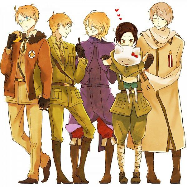 Tags: Anime, Pixiv Id 3576846, Axis Powers: Hetalia, United States, Russia, Shinatty-chan, China, France, United Kingdom, Fast Food, Fanart From Tumblr, Fanart, Tumblr