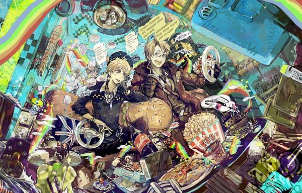 Tags: Anime, Pixiv Id 1473461, Axis Powers: Hetalia, North Italy, Shinatty-chan, Sealand, Holy Roman Empire, United Kingdom, United States, Mochimerica, Chibitalia, Germany, Britannia Angel