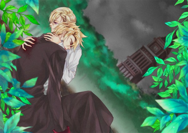 Tags: Anime, Pixiv Id 12487385, Axis Powers: Hetalia, Norway, Denmark, Clock Tower, Dying, Tower, Fanart, Pixiv, Nordic Countries