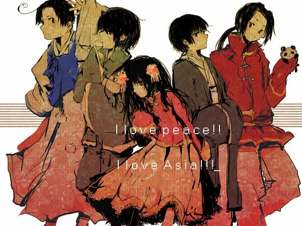 Tags: Anime, Hachou, Axis Powers: Hetalia, South Korea, Taiwan, China, Hong Kong, Japan, Pixiv, Asian Countries