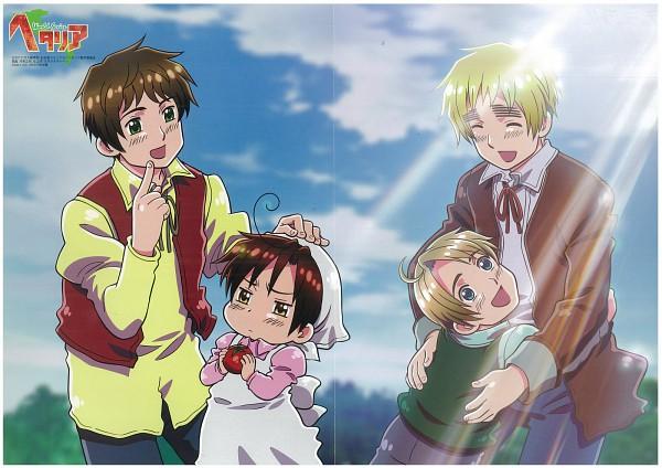 Tags: Anime, Kannan Masaaki, Studio DEEN, Axis Powers: Hetalia, North Italy, South Italy, Spain, United Kingdom, United States, Official Art, Mediterranean Countries