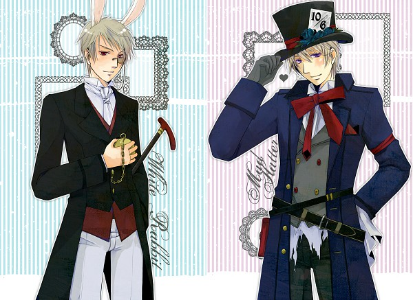 Tags: Anime, Pixiv Id 612307, Alice in Wonderland, Axis Powers: Hetalia, Russia, Prussia, Mad Hatter, White Rabbit, Mad Hatter (Cosplay), Tea Party, White Rabbit (Cosplay), Allied Forces, Germanic Countries