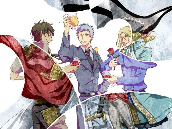 Tags: Anime, Andu-ril, Axis Powers: Hetalia, France, Jeanne d'Arc (Axis Powers: Hetalia), Gilbird, Spain, Prussia, Iron Cross