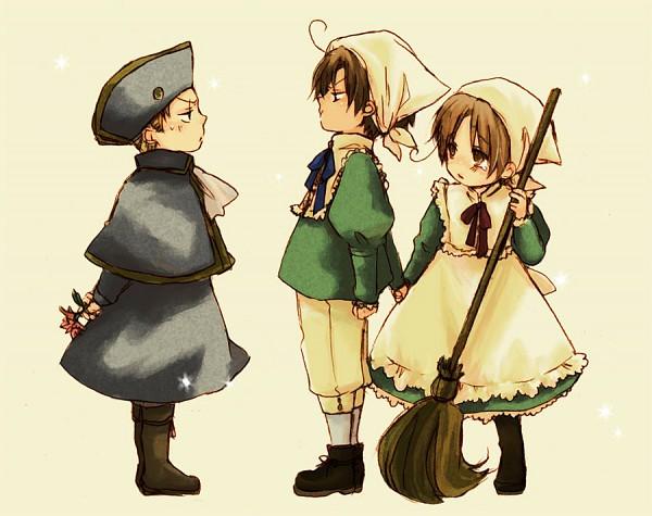 Tags: Anime, Kocho, Axis Powers: Hetalia, South Italy, Chibitalia, Chibimano, Germany, Holy Roman Empire, North Italy, Pixiv