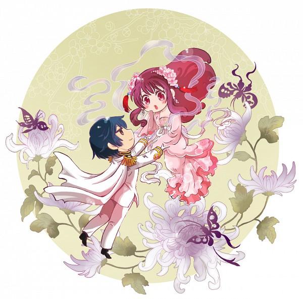 Tags: Anime, Pixiv Id 588258, Axis Powers: Hetalia, Taiwan, Japan, Chrysanthemum, Pixiv