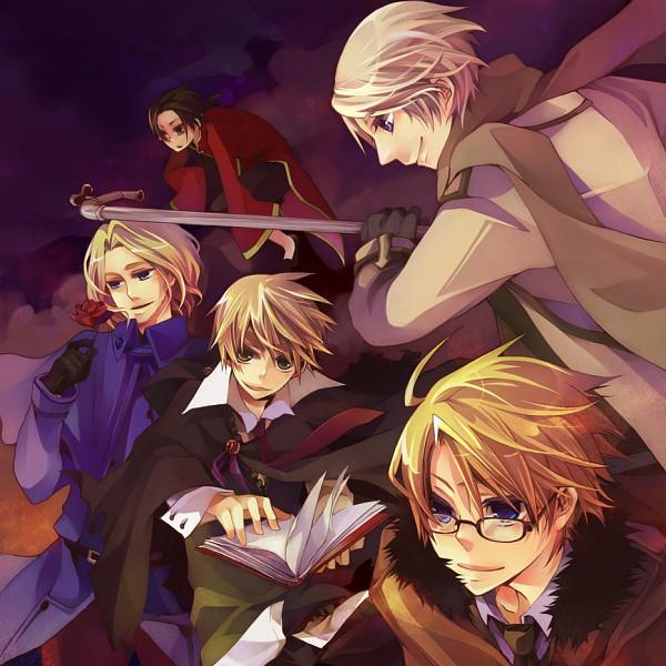 Tags: Anime, Musou Yuchi, Axis Powers: Hetalia, France, United Kingdom, United States, Russia, China, Pixiv, Allied Forces