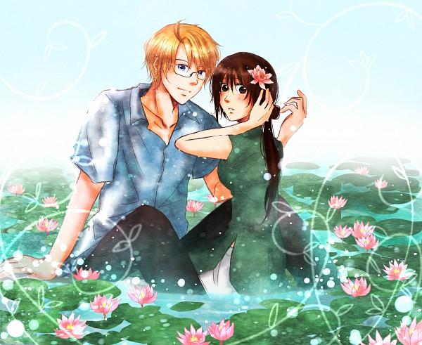 Tags: Anime, Izumi Ren, Axis Powers: Hetalia, United States, Vietnam, Lily Pads, Vietnamese Clothes, Aodai, Pixiv, Asian Countries