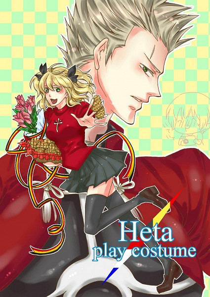 Tags: Anime, Axis Powers: Hetalia, Belgium, Japan, Netherlands, Archer (Fate/stay night) (Cosplay), Tohsaka Rin (Cosplay)