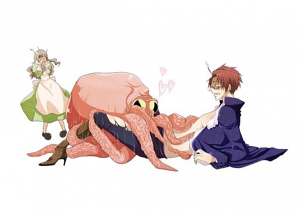 Tags: Anime, Axis Powers: Hetalia, Austria, Hungary, Octopus, Artist Request