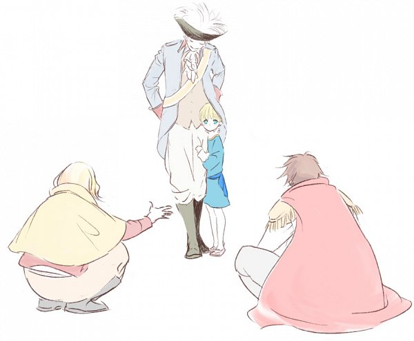 Tags: Anime, Pixiv Id 1484782, Axis Powers: Hetalia, Prussia, Holy Roman Empire, France, Spain, Germany, Fanart From Pixiv, Pixiv, Fanart, Mediterranean Countries, Axis Power Countries